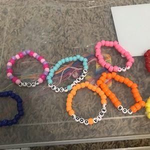 Custom beaded vsco bracelet